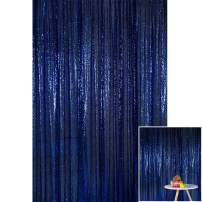 Kate 4x7ft/1.25m(W) x2.2m(H) Navy Blue Sequin Backdrop Wedding Party Celebration Festival Decoration Curtain Photography Backgrounds