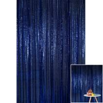 Kate 4x7ft/1.25m(W) x2.2m(H) Navy Blue Sequin Backdrop Wedding Party Celebration Festival Decoration Curtain Photography Backgrounds