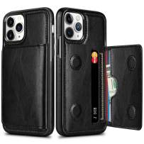 HianDier Wallet Case for iPhone 11 Pro Max Case with Card Slots Holder PU Leather Kickstand Cover Protective Magnetic Closure Shockproof Flip Back Case for iPhone 11 Pro Max 6.5-inch, Black