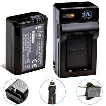BM NP-FW50 Battery and Charger for Sony A6100, Alpha a99 II, a3000, a5000, a6000, a6300, a6400, a6500, Alpha 7, a7, Alpha 7R, a7R, A7S, A7SII, A7II, NEX-3, NEX-F3K, NEX-5, NEX-6, NEX-7, DSC-RX10