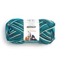 Bernat Big Ball Chunky Ombre Yarn, 10.5 oz, Gauge 6 Super Bulky, 100% Acrylic, Deep Waters Ombre
