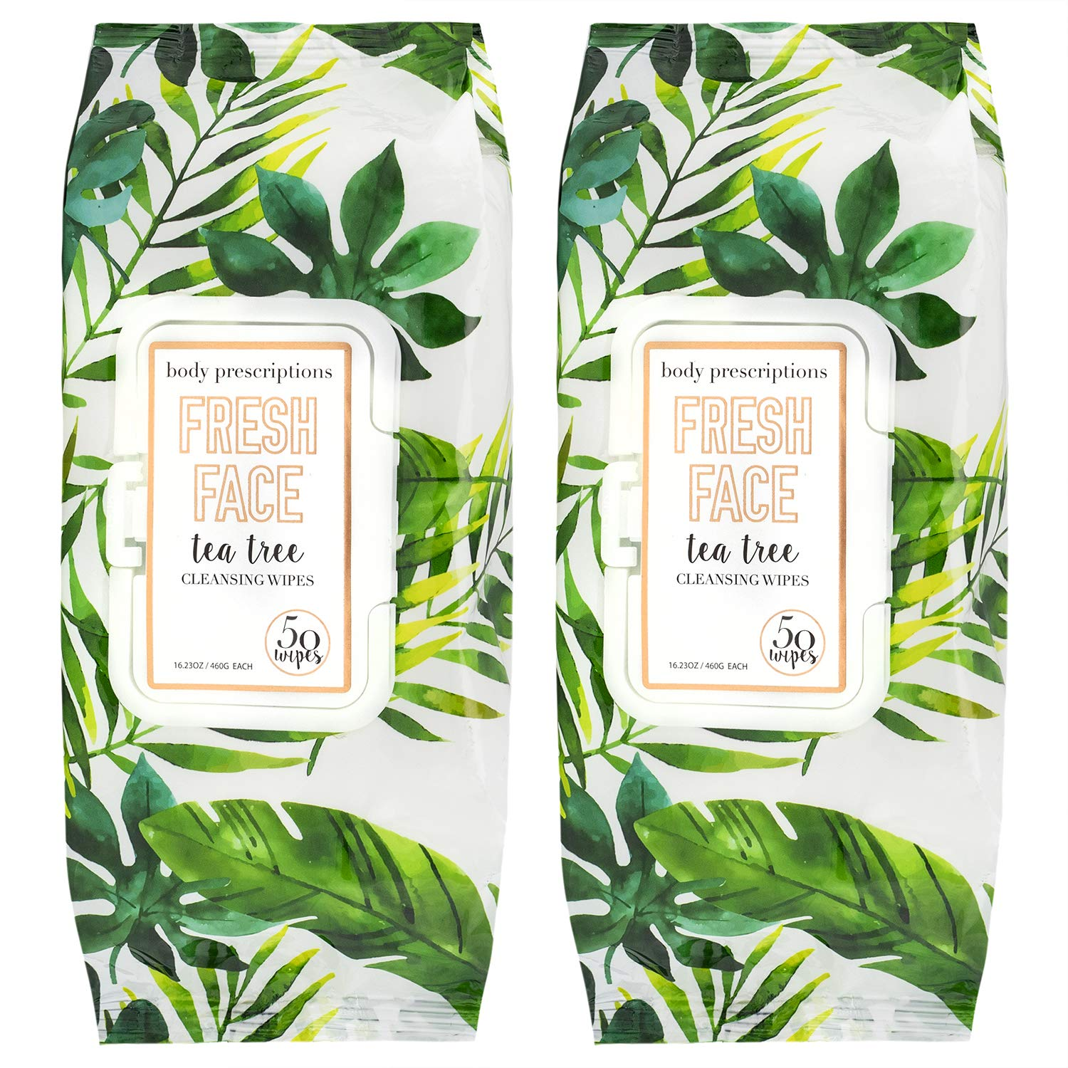 Body Prescriptions Makeup Remover Wipes Bulk Pack of 2, 120 Facial Cleaning Cloths Removes Makeup Mascara Dirt and Oil, Flip Top