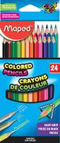 Maped Color'Peps Triangular Colored Pencils, Assorted Colors, Pack of 24 (832046ZV)