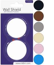 Door Stopper Wall Protector - Round Door Knob Wall Shield White Self Adhesive - Prevents Holes (2 inches, White)