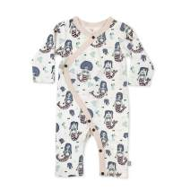 Finn + Emma Organic Cotton One-Piece Baby Coverall – Mermaids, 9-12 Months