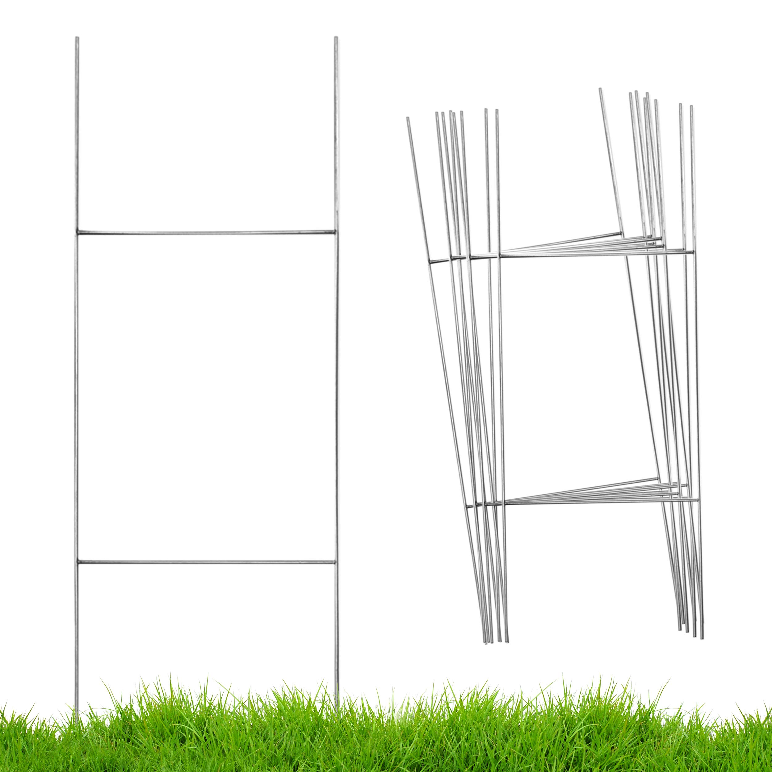Heart Felt Love Yard Sign Stakes, H Frame Wire Stake Metal Frames   for Real Estate Realtor Signs, X Campaign Political Lawn Yardsigns, Stands, Step Stands, Business Bracket + More (50 Pack, 30)