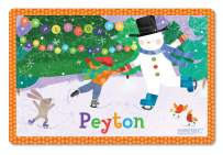 Kids Placement Personalized with Child's Name, Custom Dining Table Mat, Unique Gift for Boys and Girls, Frosty Snowman