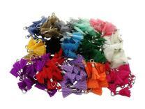 Wholesale 200pcs/lot 13mm(1/2'') Silver Mini Tassels Tiny Short Cotton Thread Tassels