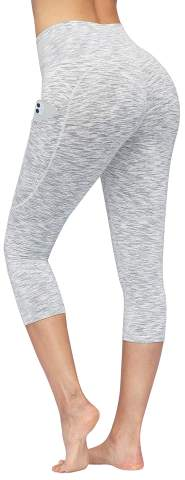 High Waist Yoga Pants with Pockets, Women Yoga Capris Workout Pants with Pockets, Tummy Control Capris Leggings for Women