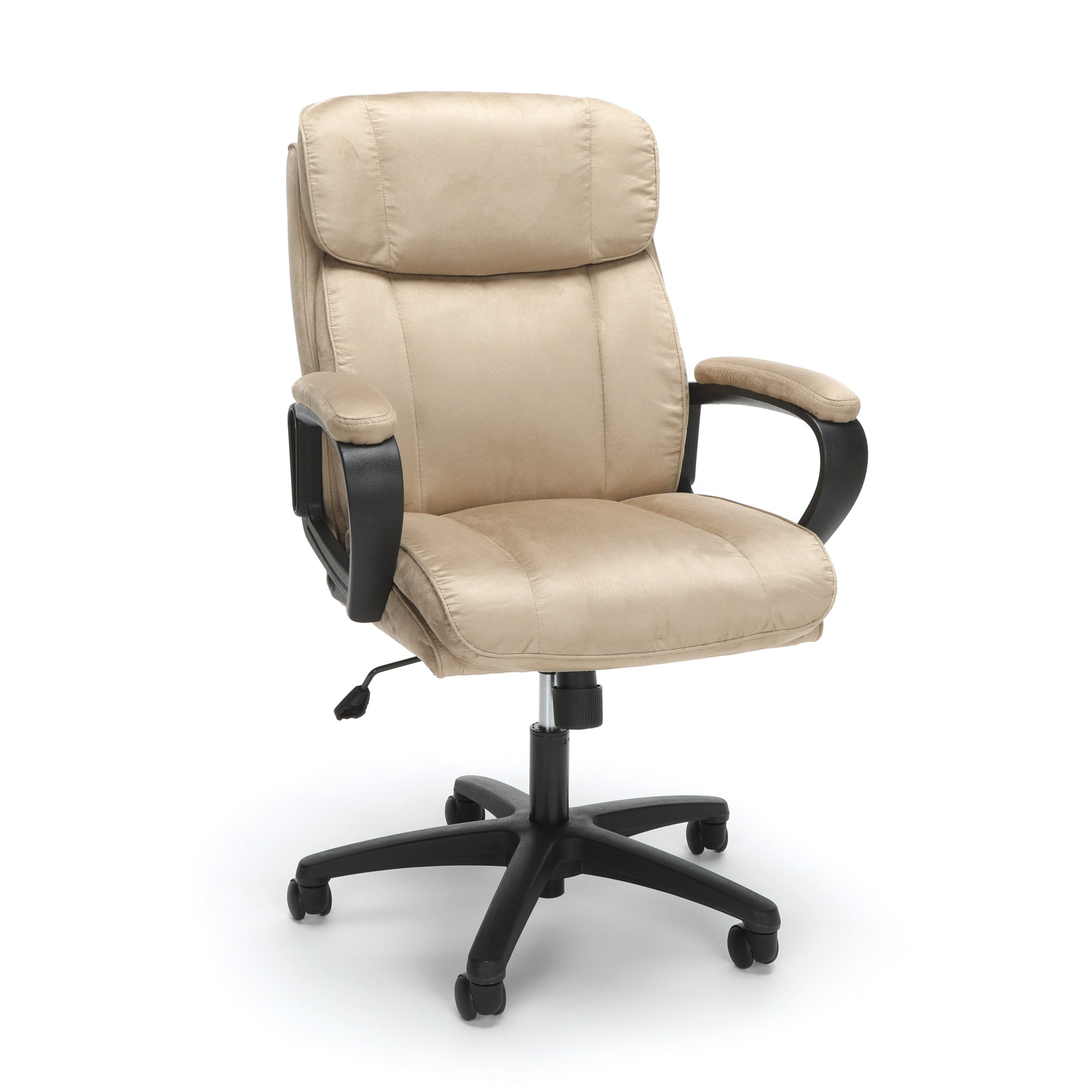 OFM Essentials Collection Plush Microfiber Office Chair, in Tan (ESS-3082-TAN)