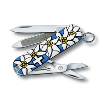 Victorinox Swiss Army Classic Pocket Knife, Blue Edelweiss