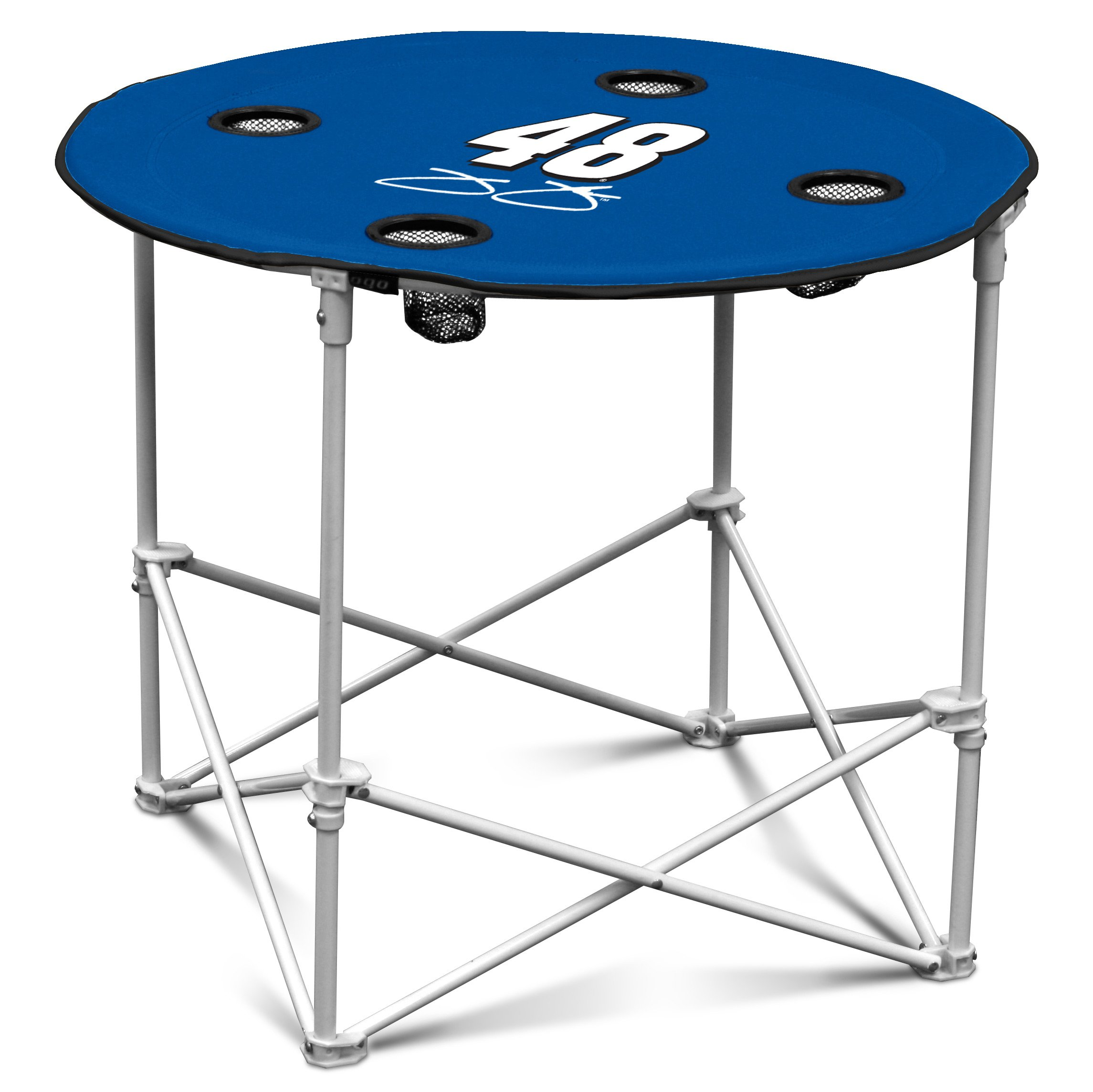 Logo Brands NASCAR Jimmie Johnson Racing Unisex Round Table, Blue, One Size