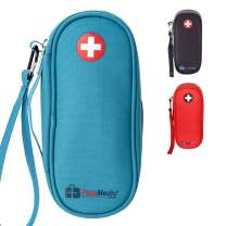 PracMedic Bags Epipen Carrying Case-holds 2 Epi Pens, Auvi-Q, Asthma Inhaler, Anti-Histamine, Vials, Syringes, Ice Pack, Portable Medicine Supplies, Travel Emergency Kit, Outdoor, updated color (Teal)