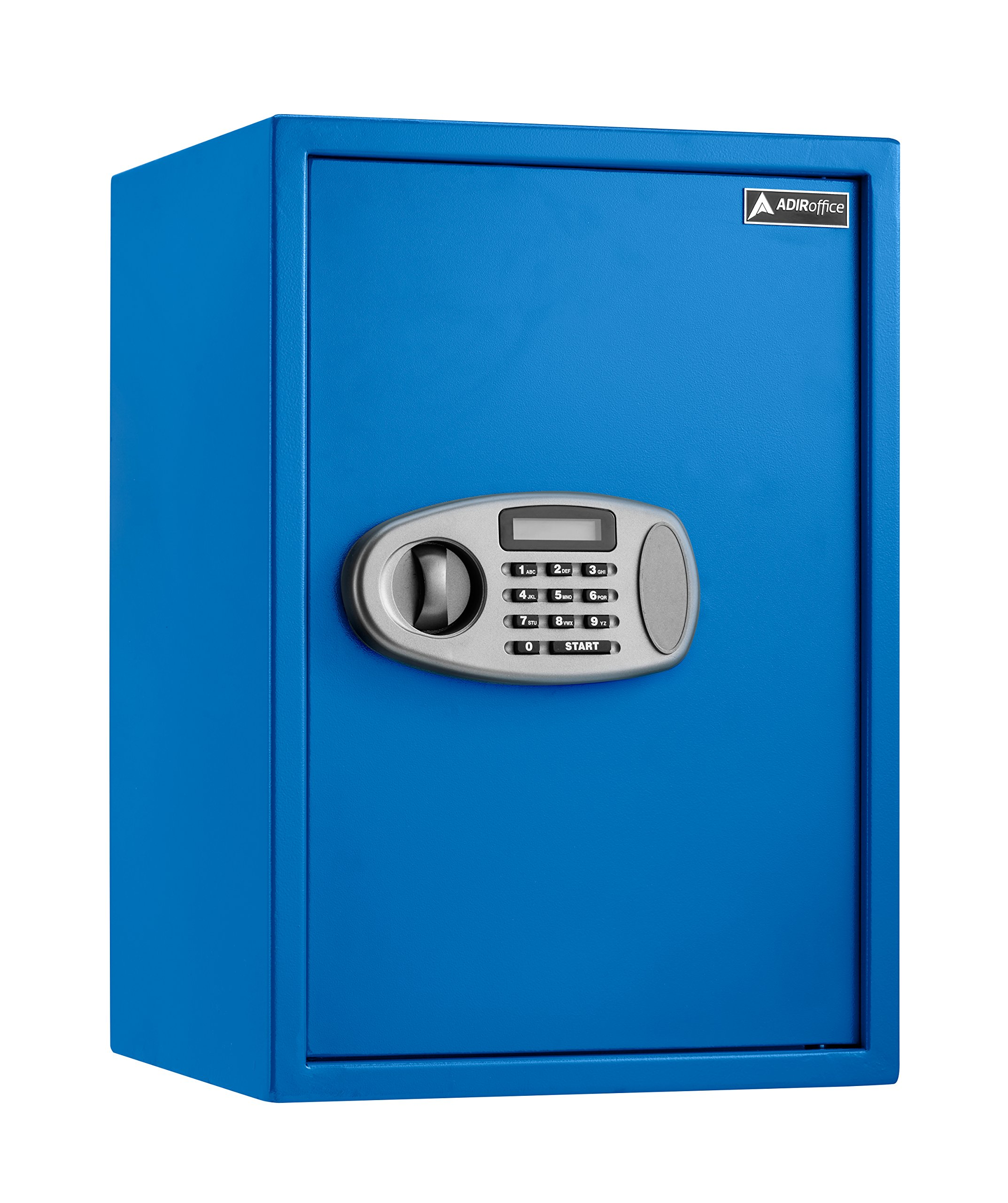 AdirOffice Security Safe with Digital Lock (2.32 Cubic Feet, Blue)