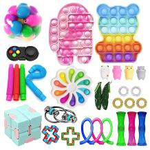 aturustex Sensory Fidget Toy Sets, Cheap Fidget Pack Toys Relieves Stress Anxiety for Adults Kids (B-30 Pcs)