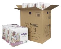 Bambo Nature Eco Friendly Premium Baby Diapers for Sensitive Skin, Size 3 (9-20 lbs), 33 Count, Pack of 6