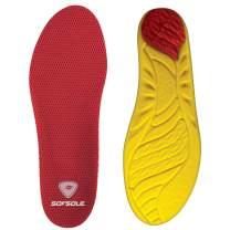 Sof Sole Insoles Men's High Arch Performance Full-Length Foam Shoe Insert