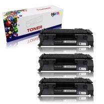 HIINK Compatible Toner Cartridge Replacement for HP 05A CE505A Toner Used in HP Laserjet P2035 P2035n P2050 P2055 P2055d P2055dn P2055x Series Printer (Black, 3-Pack)