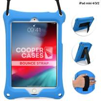 Cooper Bounce Strap Shoulder Strap Rugged Case for Apple iPad Mini 4 3 2 1 | Multi-Functional Shock Proof Heavy Duty, Shoulder and Hand Strap (Blue)