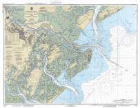Historic Pictoric Map - Savannah River and Wassaw Sound, 1990 Nautical NOAA Chart - Georgia, South Carolina (GA, SC) - Vintage Wall Art - 24in x 18in
