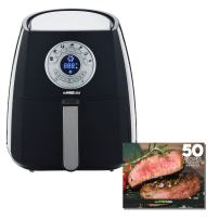 GoWISE USA 3.7-Quart 7-in-1 Air Fryer with 7 Cook Presets + 50 Recipes for your Air Fryer (Black)