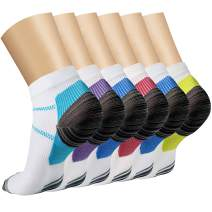 CHARMKING Compression Socks for Women & Men 15-20 mmHg,Ankle Compression Sox is Best Sport & Daily,Climbing,Flight,Travel