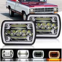 DVISUV 5x7 led headlight h6054 led headlights jeep cherokee xj headlights Hi/Lo Beam DRL Replacement for Jeep Wrangler YJ Cherokee XJ Pickup Truck 2PCS
