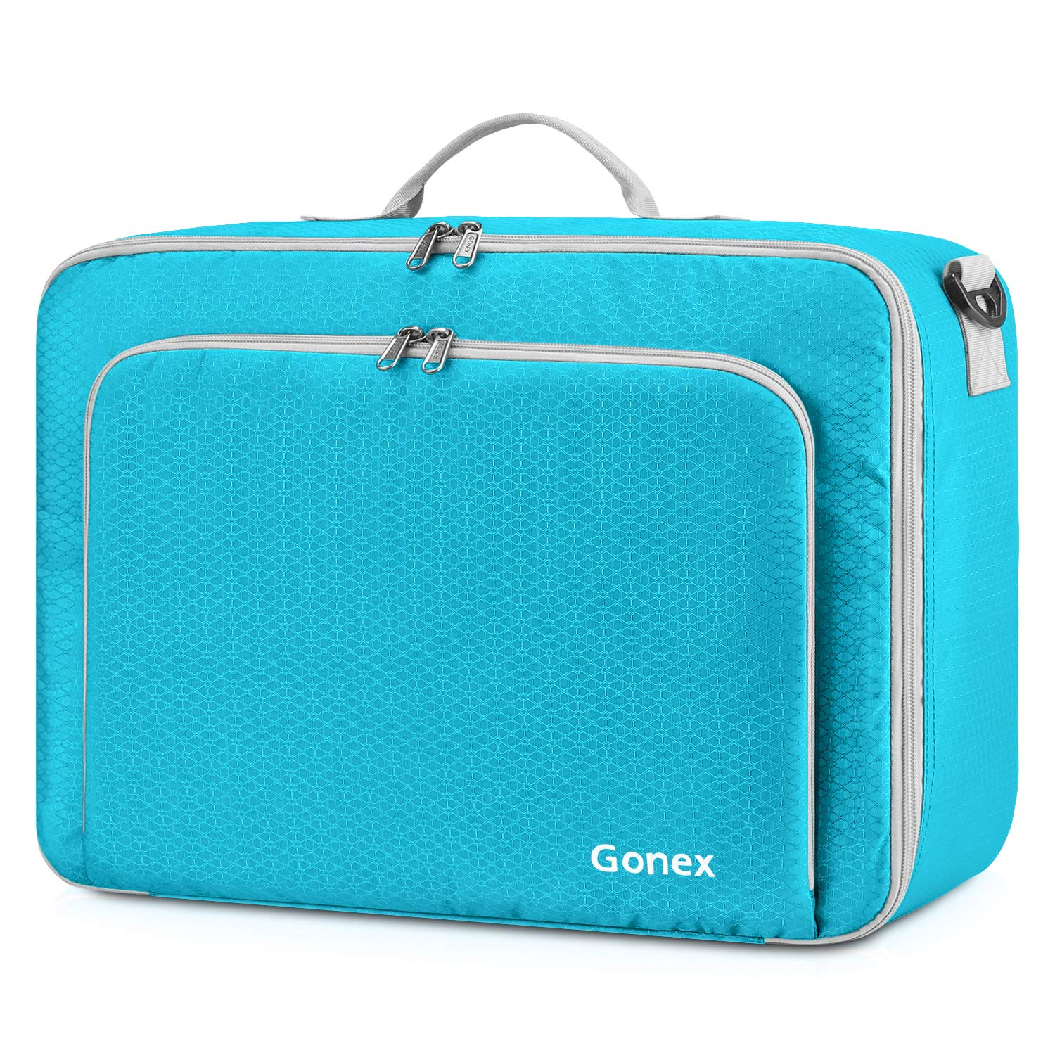 Gonex Travel Duffel Bag, Portable Carry on Luggage Personal Item Bag for Airlines, Water& Tear-Resistant 20L Blue
