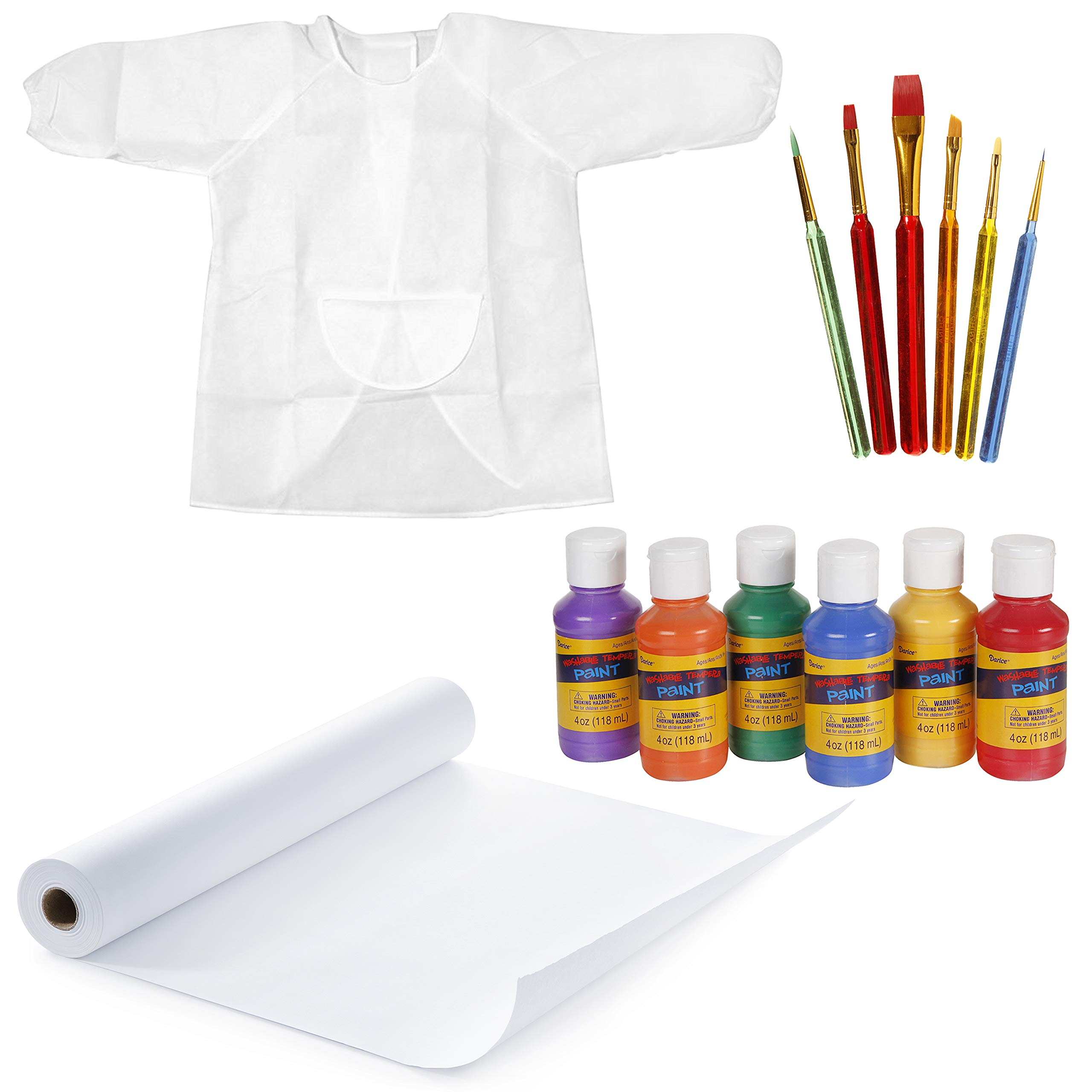 Darice Young Artist Set: Painting Supplies for Kids, 14-Piece Bundle