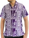 LA LEELA Hawaiian Shirt for Men Short Sleeve Front-Pocket Batik Aloha Mustard Yellow