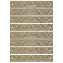 "GripStrip Extension Non Slip Traction Weather Stair, Deck Steps 12"" x 2"" (8 Pack, Beige)"