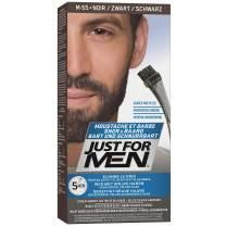 JUST FOR MEN Color Gel Mustache & Beard M-55 Real Black, 1 Count