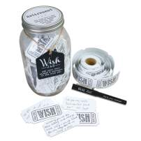 Top Shelf Retirement Wish Jar With 100 Tickets, Pen, and Decorative Lid