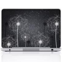 Meffort Inc 13 13.3 Inch Laptop Notebook Skin Sticker Cover Art Decal (Free Wrist pad) - Black & White Dandelion