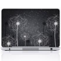 Meffort Inc 11.6 12 Inch Laptop Notebook Skin Sticker Cover Art Decal (Free Wrist pad) - Black & White Dandelion