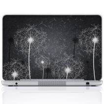 Meffort Inc 13 13.3 Inch Laptop Notebook Skin Sticker Cover Art Decal (Free Wrist pad) - Black & White Dandelion