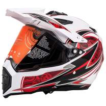 MotorFansClub Dirt Bike Full Face Helmet Fit for Compatible with Adult M