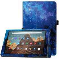 "Famavala Folio Case Cover Compatible with 10.1"" All-New Amazon Fire HD 10 Tablet (7th / 9th Generation, 2017/2019 Release) (BlueSky)"