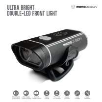 MOMODESIGN Bike • Double LED USB Rechargeable Headlight • Bicycle Cycling Bright Nightvision