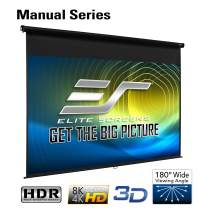 Elite Screens Manual Series, 86-INCH 16:10, Pull Down Manual Projector Screen with AUTO LOCK, Movie Home Theater 8K / 4K Ultra HD 3D Ready, 2-YEAR WARRANTY, M86UWX, 16:10, Black