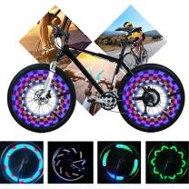 KUWAN LED Bike Spoke Lights - A12 Waterproof Cool Bicycle Wheel Light, Safety Tire Lights for Kids Adults, Very Bright, Auto & Manual Dual Switch, 30 Pattern (Battery not Include)