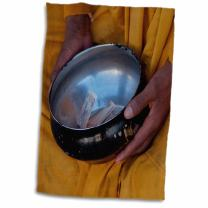 "3D Rose Jammu and Kashmir Ladakh Leh Monk with a Begging Bowl TWL_188090_1 Towel, 15"" x 22"""
