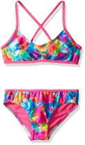 Speedo Women Girls' tie dye Sky Two Piece Bikini Set