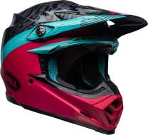 Bell Moto-9 MIPS Off-Road Motorcycle Helmet (Chief Matte/Gloss Black/Pink/Blue, Large)