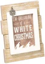 Pavilion Gift Company 67268 We People-I'm Dreaming of a White Christmas Mountain Mini Wall Plaque Desk Decor