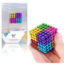 Twiddler Toys Rainbow Magnetic Sculpture 5mm 216pcs with Storage Bag – Colorful Satisfying Fidget Magnets Desk Toy for Adults