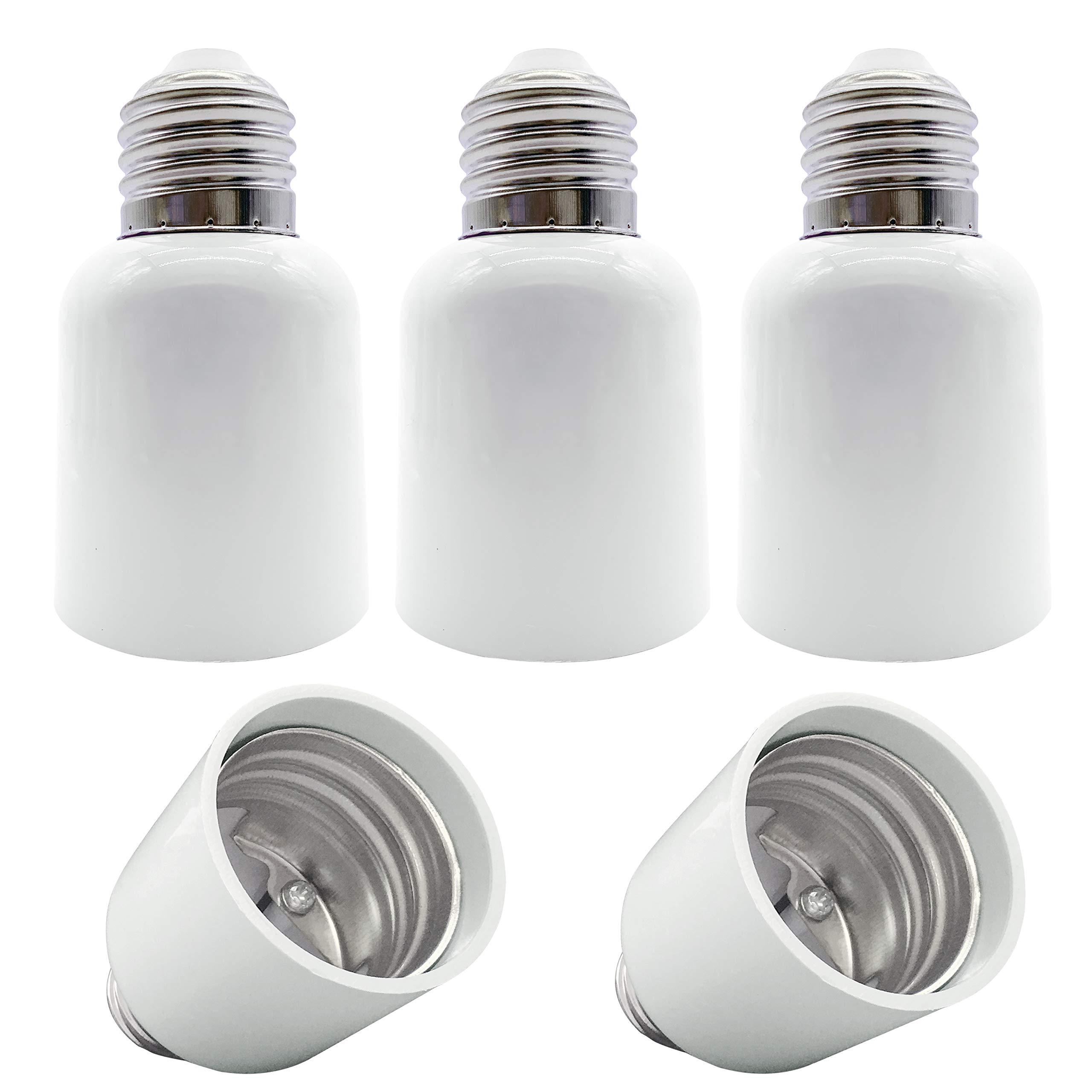 YAYZA! 5-Pack E26 E27 to E39 E40 Bulb Base Adapter, Medium to Goliath Edison Screw Light Socket Converter, Heat Resistant Up to 200℃ No Fire Hazard