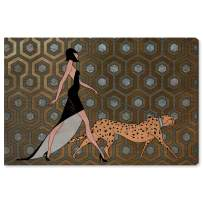 """The Oliver Gal Artist Co. Fashion and Glam Wall Art Canvas Prints 'Own The Street' Home Décor, 45"""" x 30"""", Orange, Bronze"""