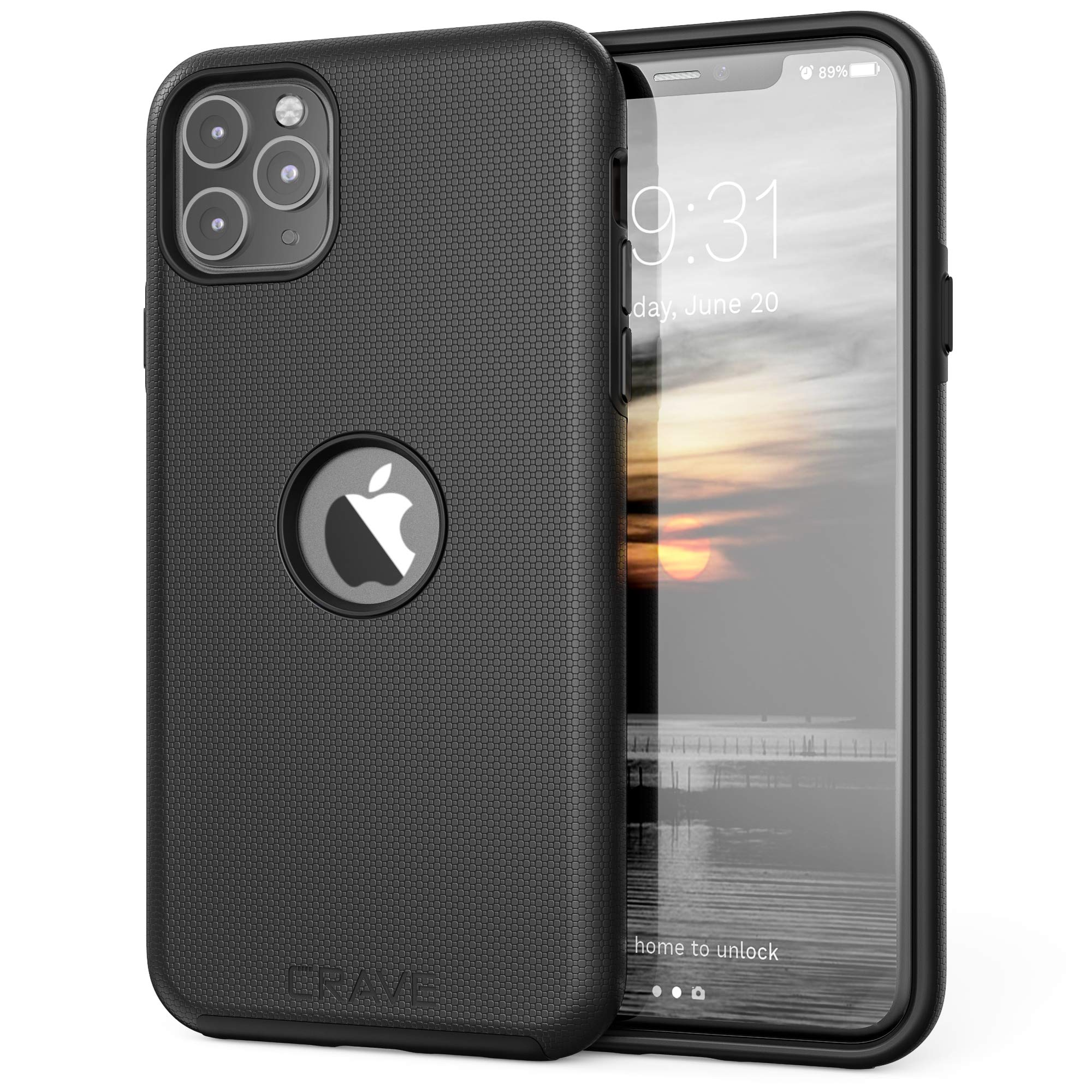 Crave iPhone 11 Pro Max Case, Dual Guard Protection Series Case for iPhone 11 Pro Max - Black