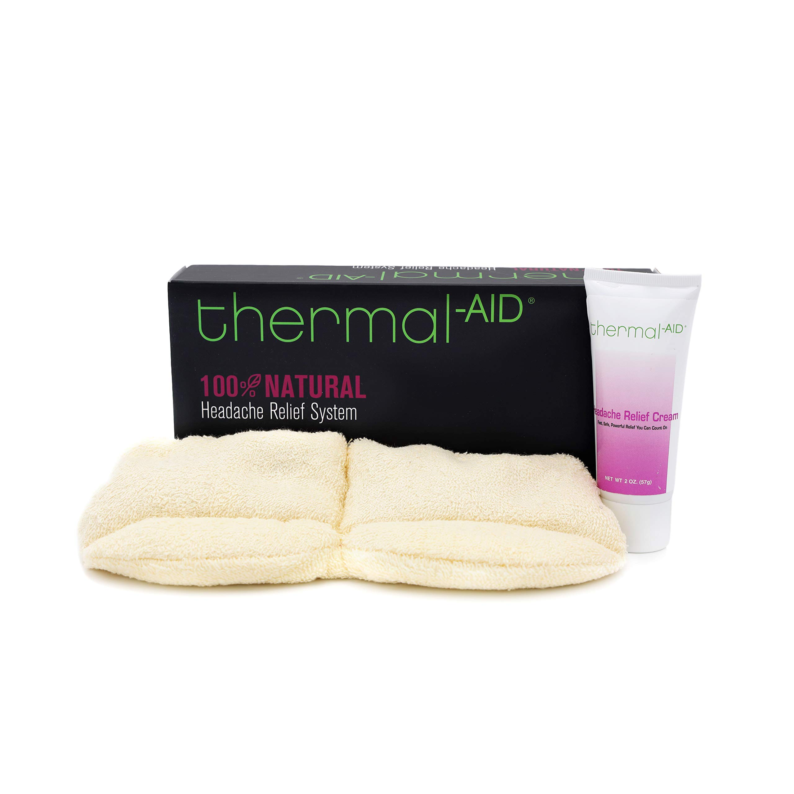 Thermal-Aid — Headache Relief System — Pain Relief Sleep Mask and Analgesic — Great Stress Relief and Anxiety Relief — Designed to Reduce Light Sensitivity for Migraine Relief